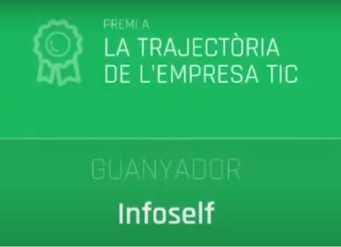"""Infoself Group guanyador del premi a la """"Trajectòria de l'Empresa TIC""""- Premis E-TECH 2020"""